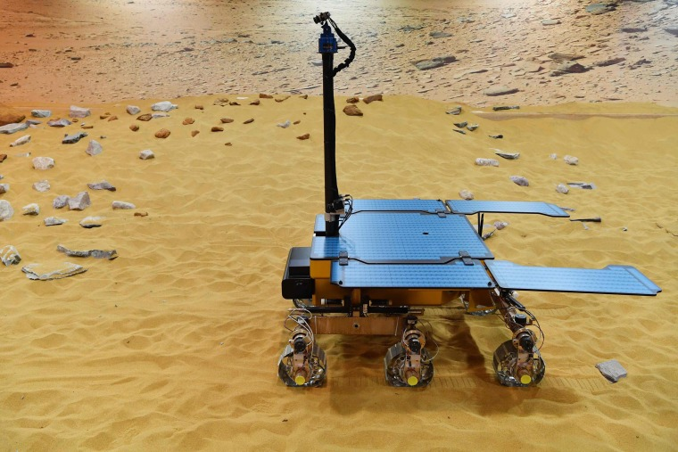 A working prototype of the Rosalind Franklin ExoMars rover.
