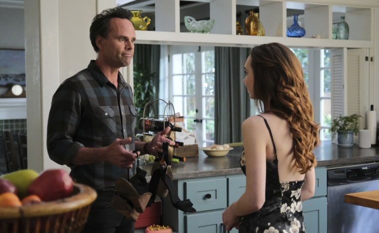 """Walton Goggins and Ruby Jay in the season finale of """"The Unicorn."""""""