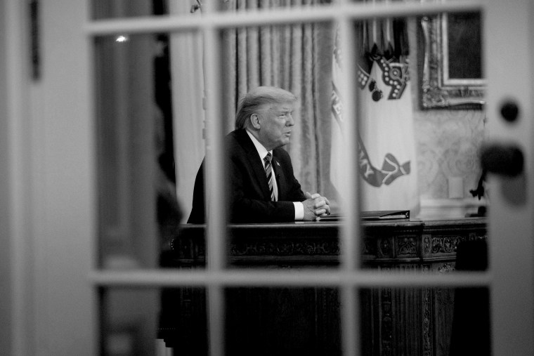 Image: President Donald Trump makes an address to the nation about the novel coronavirus, COVID-19, pandemic from the Oval Office of the White House
