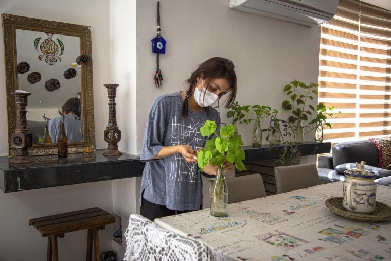 Quarantined at home in Iran due to the Coronavirus.