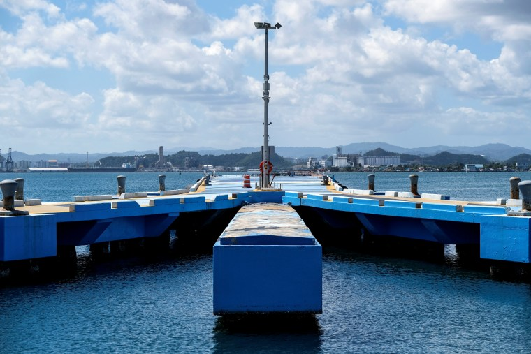 Image: The empty docks of Muelle de San Juan in Puerto Rico on March 15, 2020.