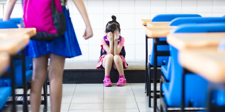 Little girl being bullied at school