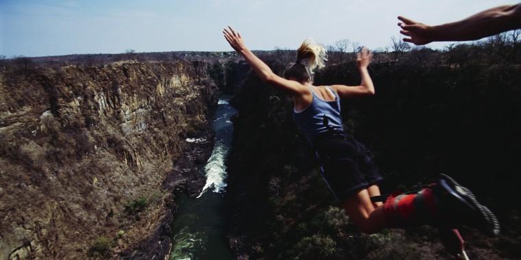 Bungee Jumping at Victoria Falls