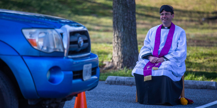 Father Scott Holmer, a Catholic priest at a parish in Maryland, has started hearing confessions through penitents' driver's-side windows in his church's parking lot.