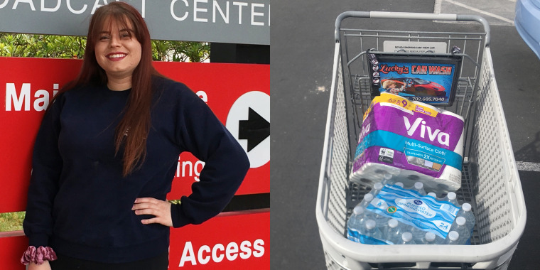 Jayde Powell, a 20-year-old student, is helping connect volunteers with senior citizens in need of food during the ongoing COVID-19 health crisis.