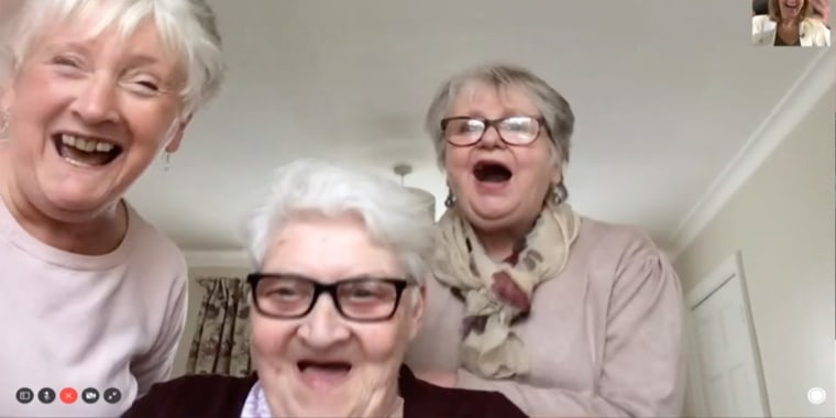 Doreen Burns, Carol Spark and Dotty Robinson are all hunkered down together amid the coronavirus outbreak.