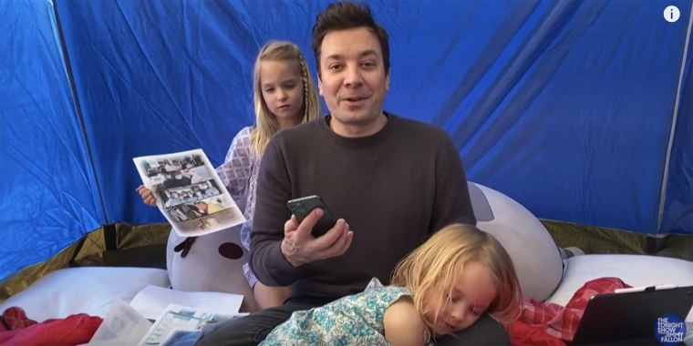 Fallon's daughters aren't exactly the most attentive coworkers but they're doing their best!