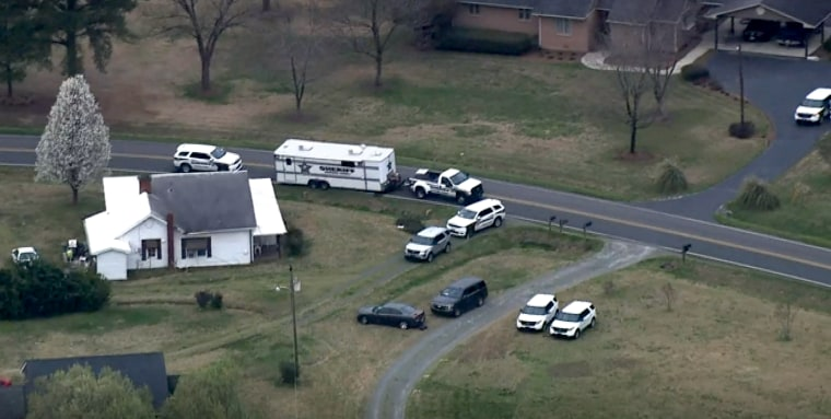 Investigators were searching three homes on a single property in Moncure, N.C. on the morning of March 16, 2020 after the report of a murder-suicide.