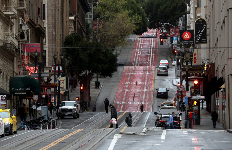 Image: Empty streets in San Francisco