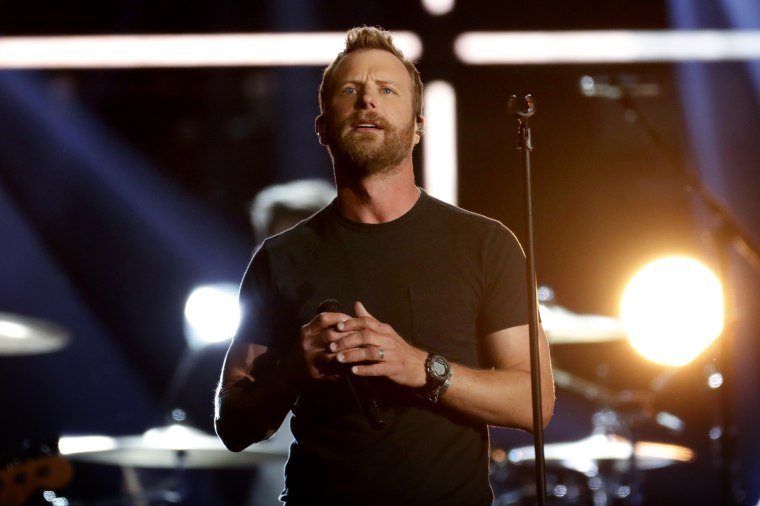 Image: Dierks Bentley performs at the Academy of Country Music Awards in Las Vegas in 2018.