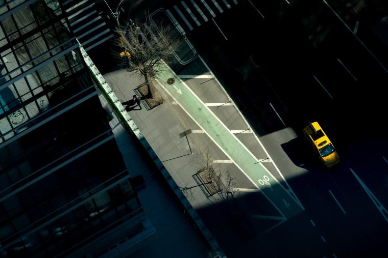 Image: Empty Manhattan street