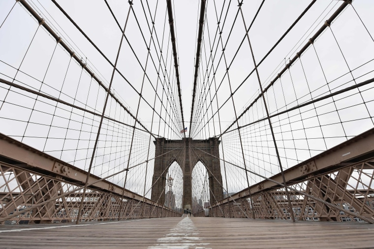 Image: The Brooklyn Bridge on March 17, 2020 in New York City.