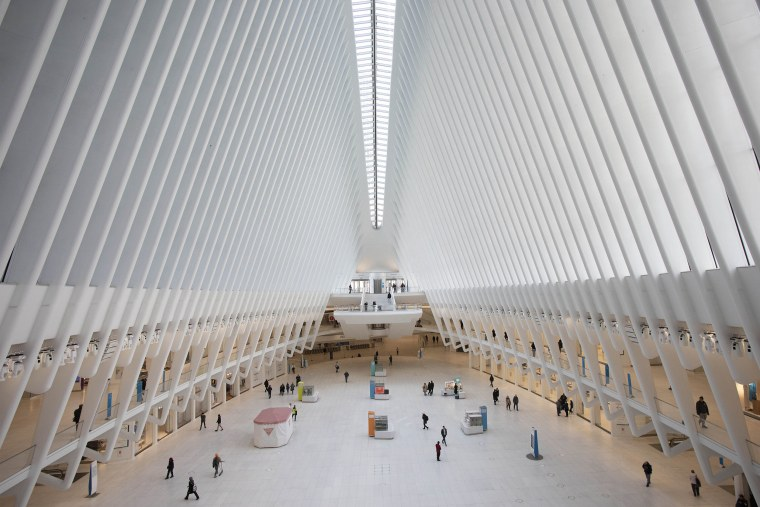 The Oculus at the World Trade Center's transportation hub in New York on March 16, 2020.