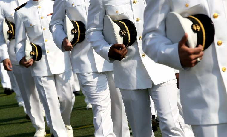 U.S. Naval Academy Holds Graduation And Commissioning Ceremony