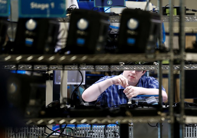 Image: An employee works at Ventec Life Systems, a ventilator manufacturer that has seen a large increase in demand since the global coronavirus disease (COVID-19) outbreak began, in Bothell