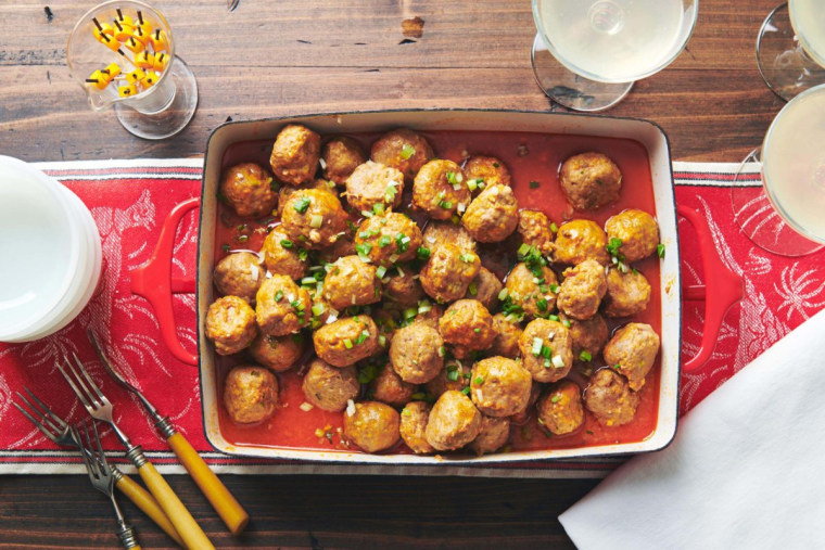 These meatballs are like the skinny jeans of buffalo wings.