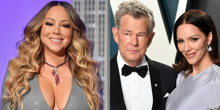 "Mariah Carey applauded Katharine McPhee and David Foster for singing ""Hero"" and dedicating it to healthcare workers amid the coronavirus outbreak."