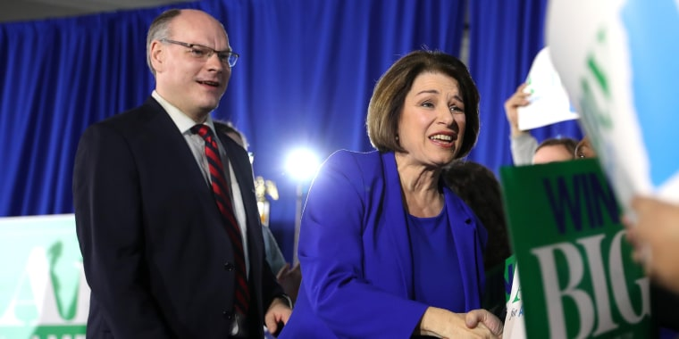 Presidential Candidate Amy Klobuchar Holds Primary Night Event In New Hampshire