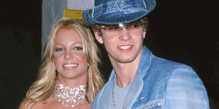Justin Timberlake, Britney Spears denim red carpet moment