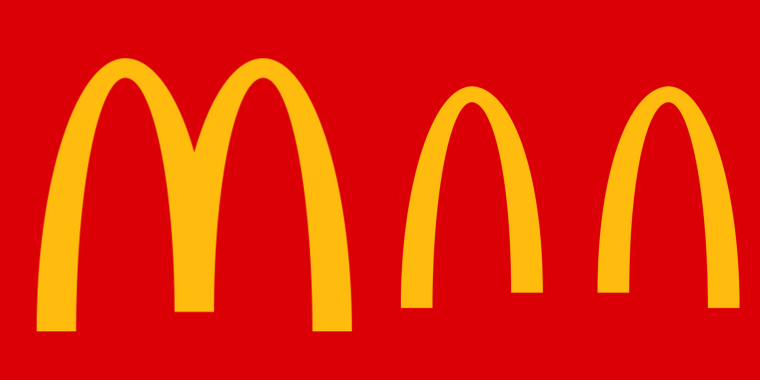 International locations of McDonald's have given the famous logo a makeover to remind customers about social distancing amid the ongoing outbreak of COVID-19.