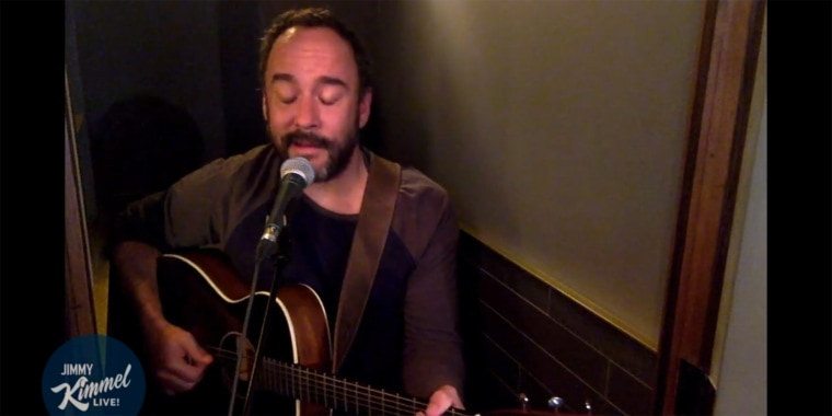 """Dave Matthews paid a remote visit to Jimmy Kimmel's late night YouTube show and performed """"American Tune"""" for the quarantined masses."""