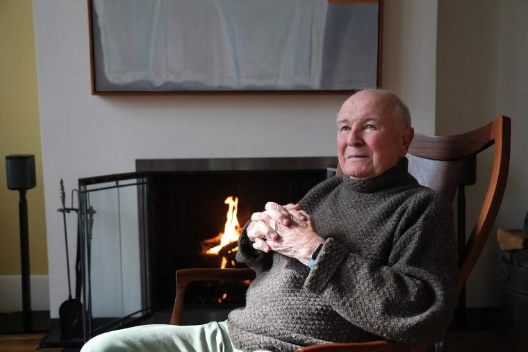 Terrence McNally And Tom Kirdahy Portrait Shoot