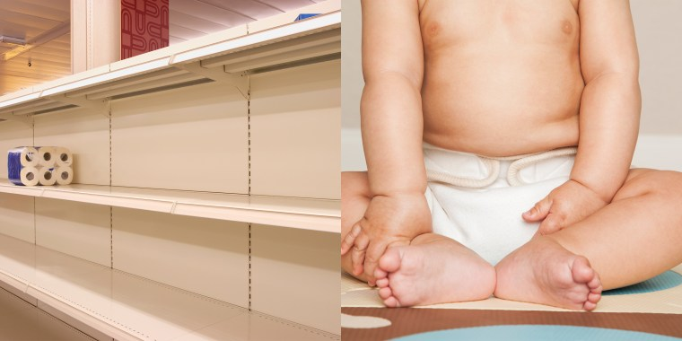 Diaper shortages have led to parents seeking alternative options for their babies.
