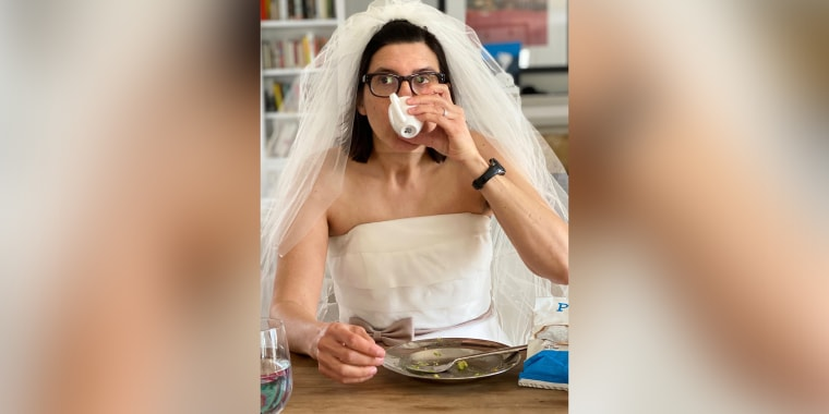 The author broke out her wedding gown 12 years after getting married.