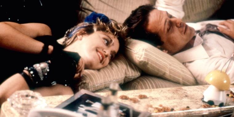 DESPERATELY SEEKING SUSAN, Madonna, Mark Blum, 1985. (C)Orion Pictures Corp/courtesy Everett Collectio