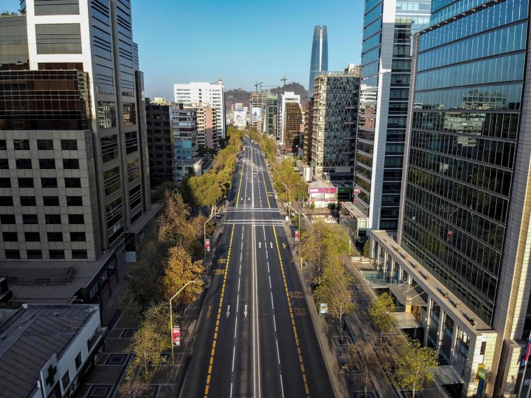 Image: An empty road in Santiago