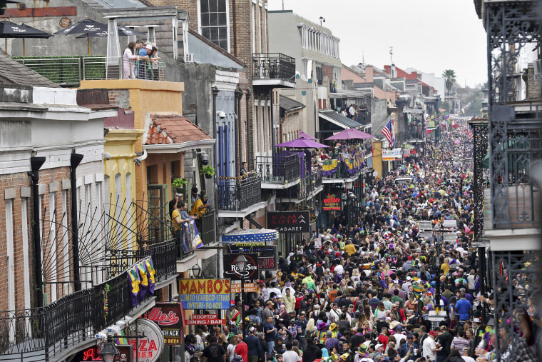 Image: Bourbon Street during Mardi Gras