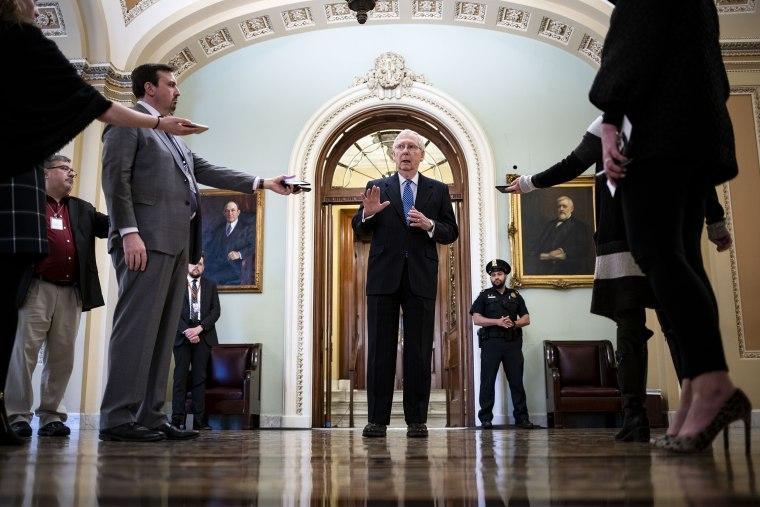 U.S. Senate Meets As Virus Rescue Plan Stalls
