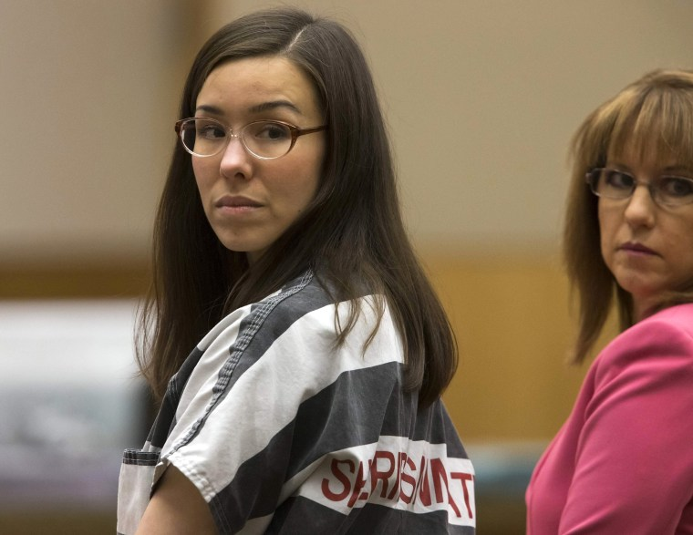 Image: Jodi Arias and her attorney Jennifer Willmott during sentencing hearing in Maricopa County Superior Courtroom in Phoenix Arizona