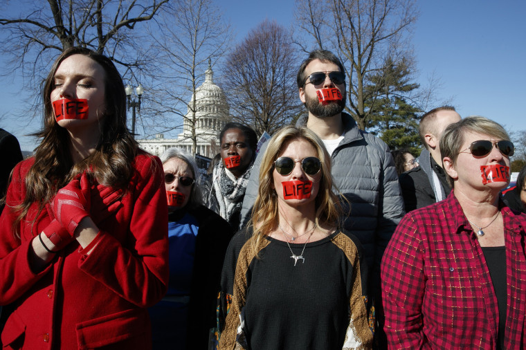 Image: Anti-abortion rights demonstrators outside the Supreme Court