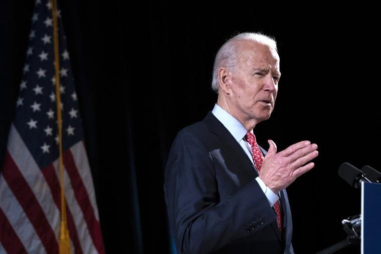 Image: Candidate Joe Biden Delivers Remarks On Coronavirus Outbreak