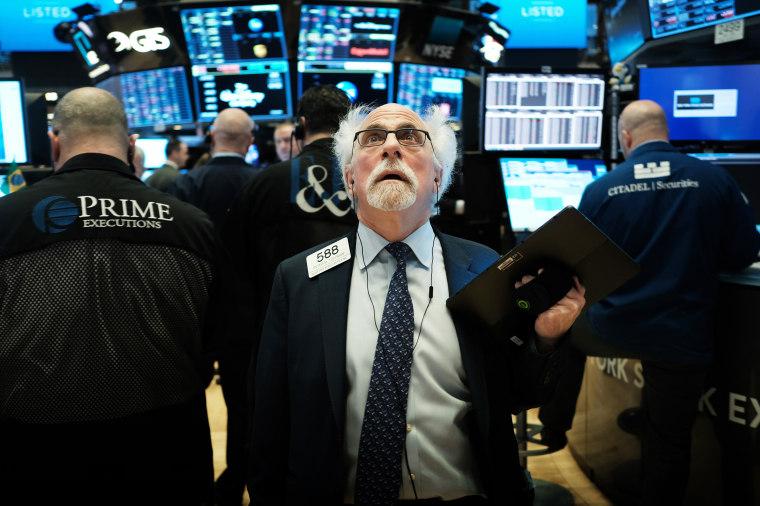 Фото: Питер Тучман на Нью-Йоркской фондовой бирже 9 марта 2020 года.