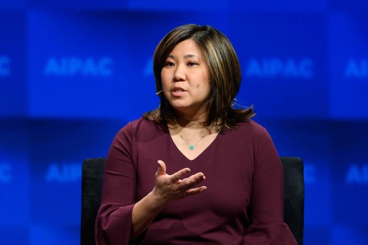 U.S. Representative Grace Meng (D-NY) seen speaking during