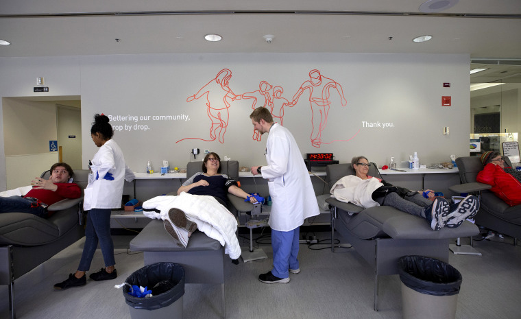 Image: Seattle Area Fears Blood Donation Shortage During Coronavirus Outbreak