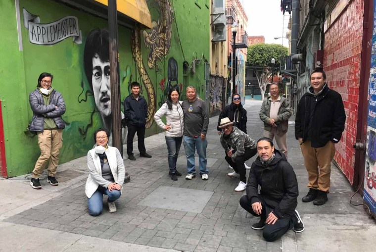 SF Peace Collective volunteers patrolling the streets of San Francisco.
