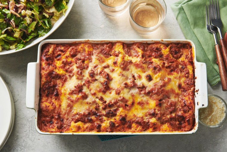 This classic cheesy beef lasagna is the Sunday dinner your family craves