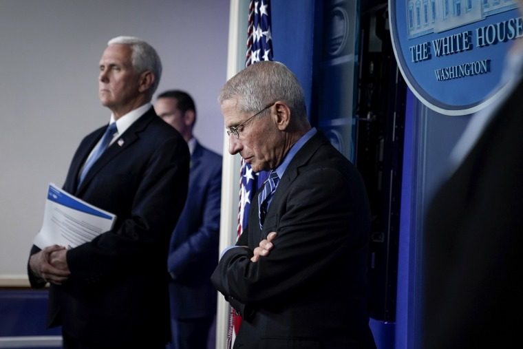 Image: Dr. Anthony Fauci at a coronavirus task force briefing at the White House on March 24, 2020.