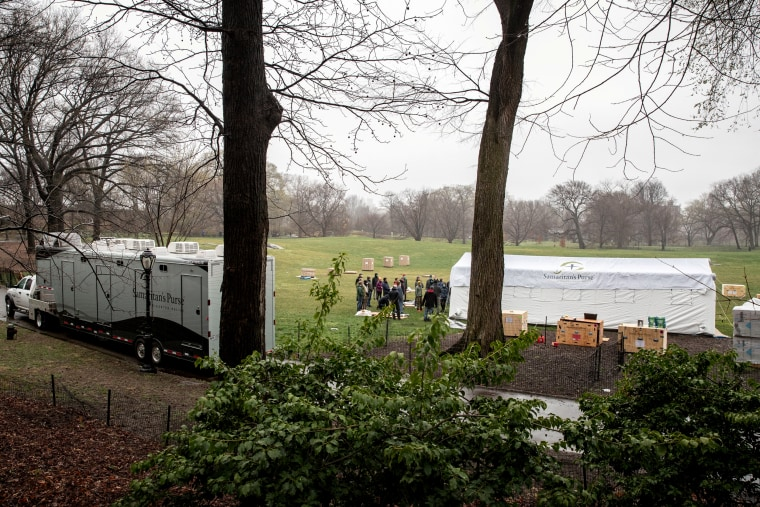 Emergency Field Hospital Being Built In Central Park To Deal With Coronavirus In New York City