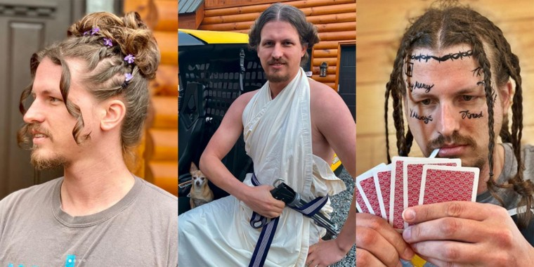 Geoffrey Clark says he loves all the hairstyles his girlfriend creates for him, but the Princess Leia photo shoot was his favorite so far.