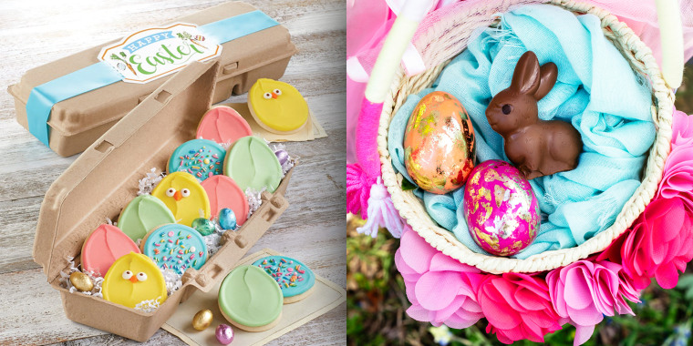 Spring Floral Easter Egg Style Tin ONE EGG supplied