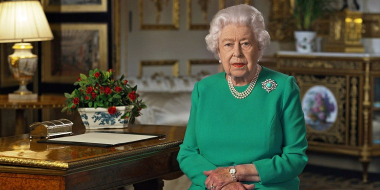 Queen Elizabeth during her address to the nation and the Commonwealth in relation to the coronavirus epidemic, recorded at Windsor Castle, Britain , on April 5, 2020.
