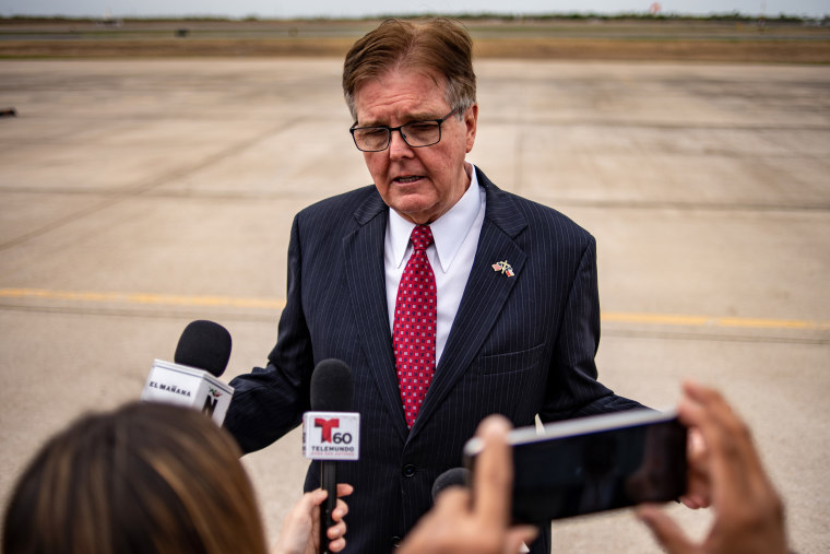 Lt. Gov. Dan Patrick speaks in McAllen, Texas, on Jan. 10, 2019.