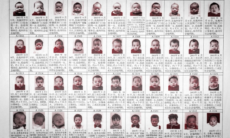 Chinese adoption agencies finding ads of abandoned babies.