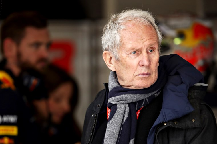 Image: Helmut Marko at the F1 Winter Testing Circuit in Barcelona on Feb. 27, 2020.