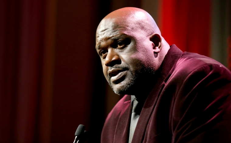 Image: Shaquille O'Neal speaks at a Sports Illustrated event in New York City on Dec. 9, 2019.