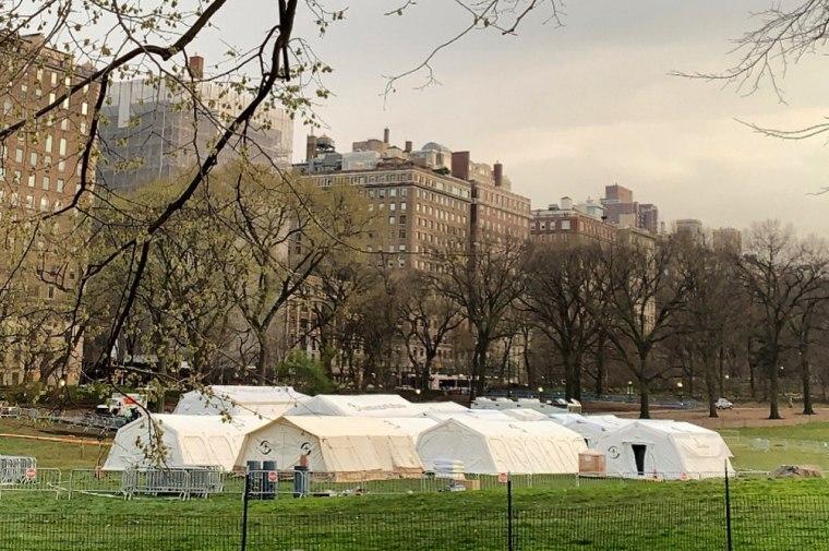 New York City Landmarks Convert To Hospitals Amid Coronavirus Pandemic